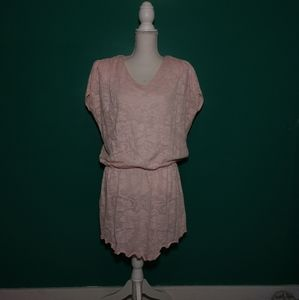 Baby pink cover up dress